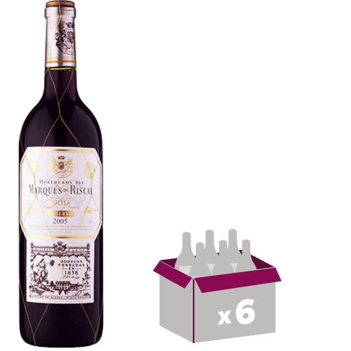 MARQUES DE RISCAL Reserva Vin d'Espagne - Rouge - 75 cl x 6