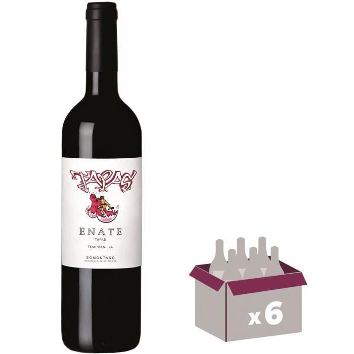 SOMOTAN ENATE TAPAS 2015 Tempranillo Vin d'Espagne - Rouge - 75 cl - DO x 6