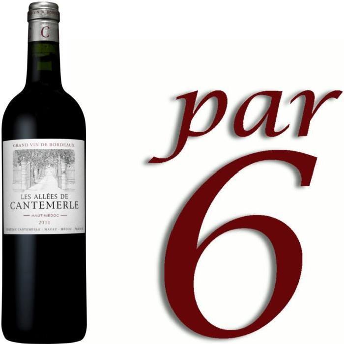 Les Allées de Cantemerle 2011 Haut-Médoc vin ro...
