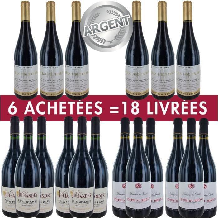 6 = 18 Pack Rhône Médaillé