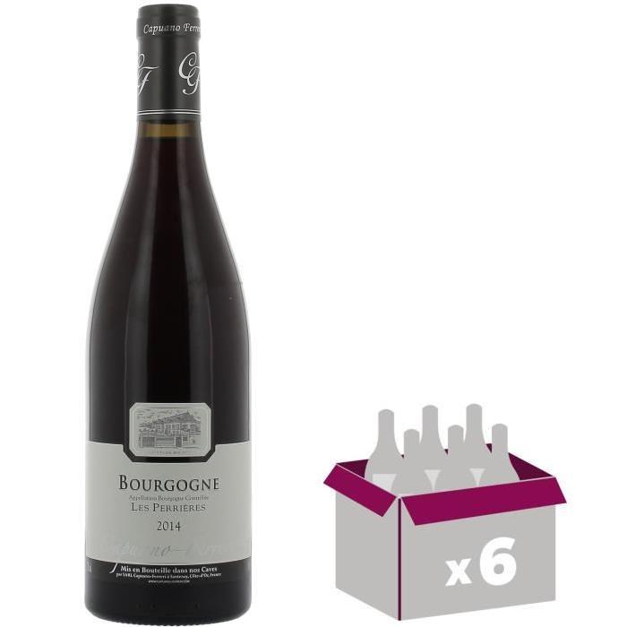 Domaine Capuano-Ferreri Bourgogne Pinot Noir Les Perrieres - Grand Vin de Bourgogne - 2014 - Rouge x 6