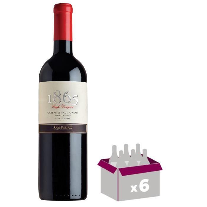 1865 Cabernet Sauvignon 2013 Vin du Chili - Rouge - 75 cl x 6