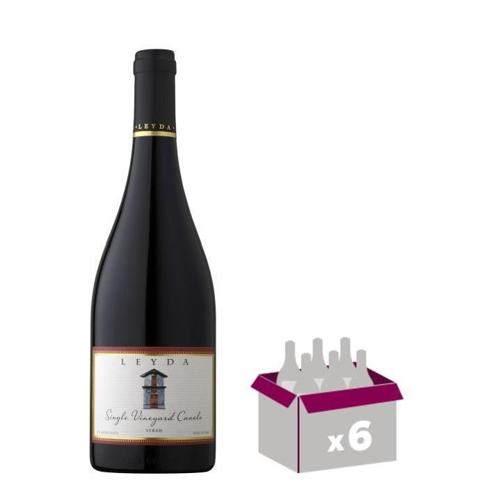 LEYDA CANELO 2014 Single Vine Syrah Vin du Chili - Rouge - 75 cl x 6