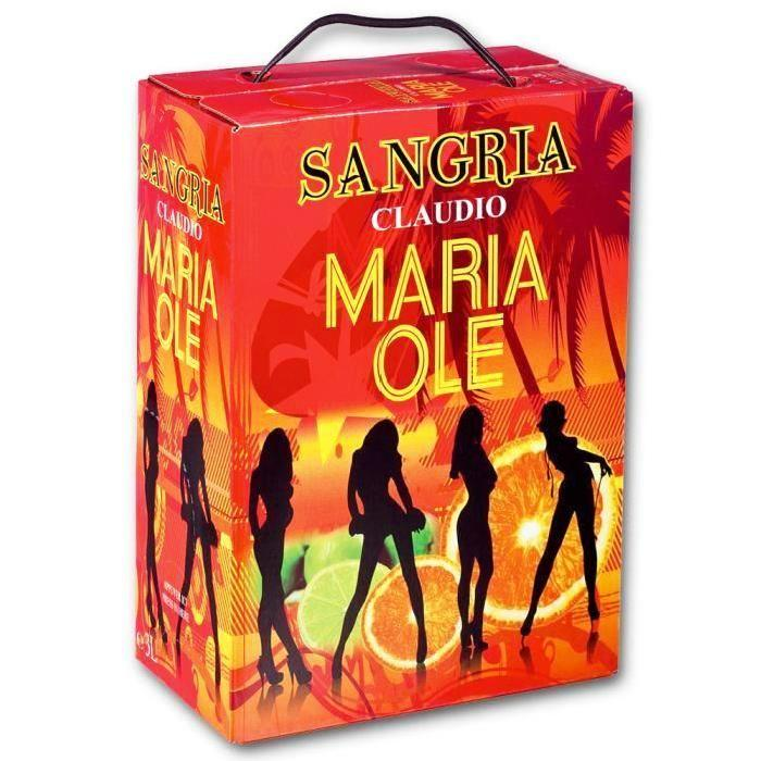 Bag in Box Sangria Maria Ole 3 litres